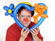 Kindergeburtstag mit Luftballon-Clown