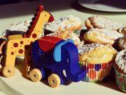 Muffins und Spielzeug