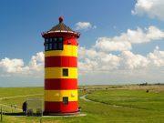 Pilsumer Leuchtturm in Ostfriesland