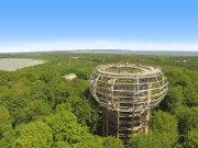 Blick auf das Naturerbe Zentrum auf Rügen mitten im Wald