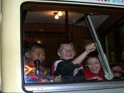 Kinder im Verkehrsmuseum in Frankfurt