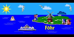 Clipart zur Insel Föhr